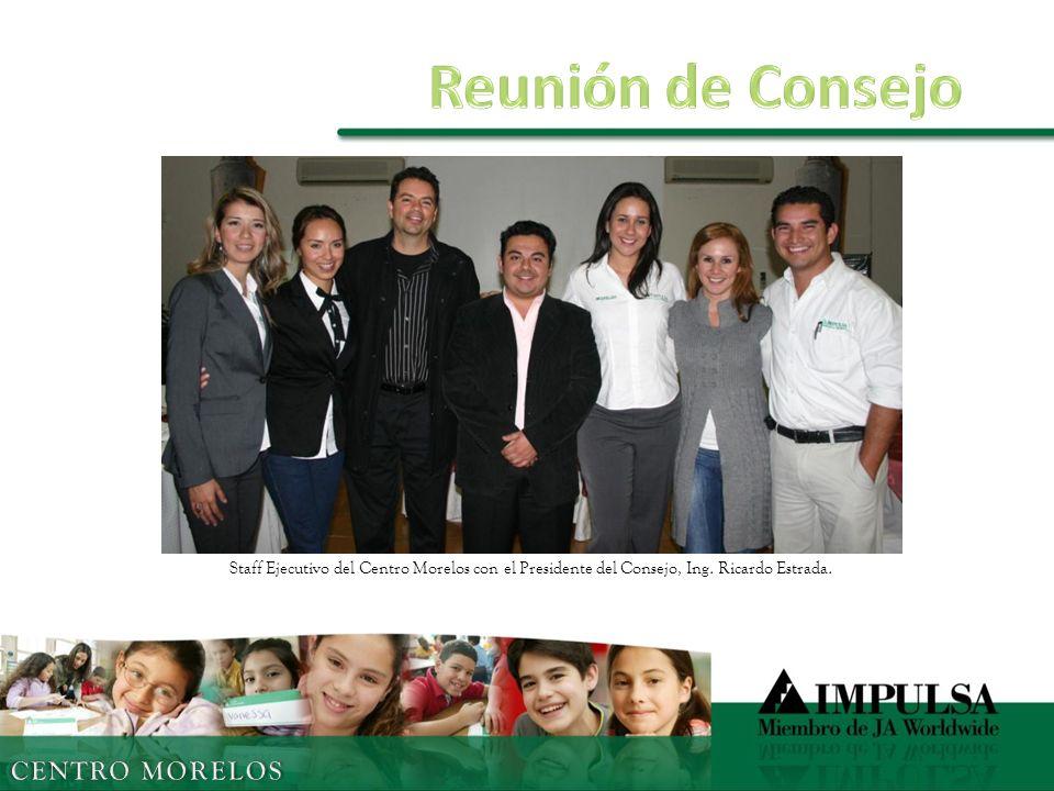 Staff Ejecutivo del Centro Morelos con el Presidente del Consejo, Ing. Ricardo Estrada.