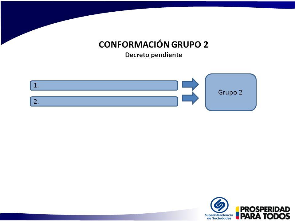 CONFORMACIÓN GRUPO 2 Decreto pendiente 1. 2. Grupo 2