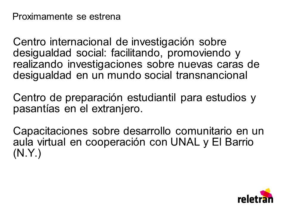 Proximamente se estrena Centro internacional de investigación sobre desigualdad social: facilitando, promoviendo y realizando investigaciones sobre nu