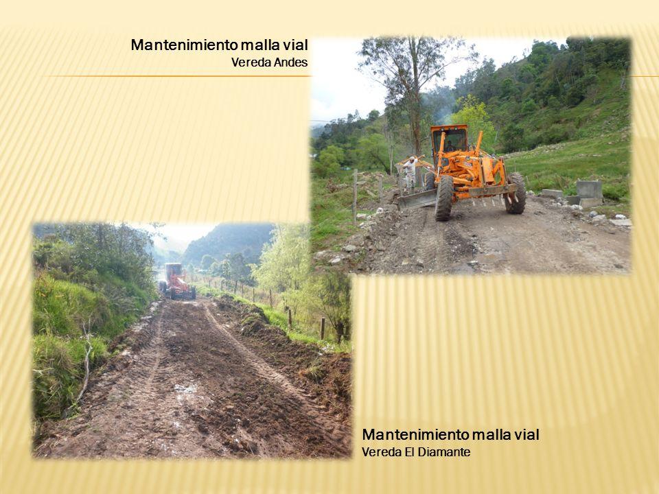 Mantenimiento malla vial Vereda El Diamante Mantenimiento malla vial Vereda Andes