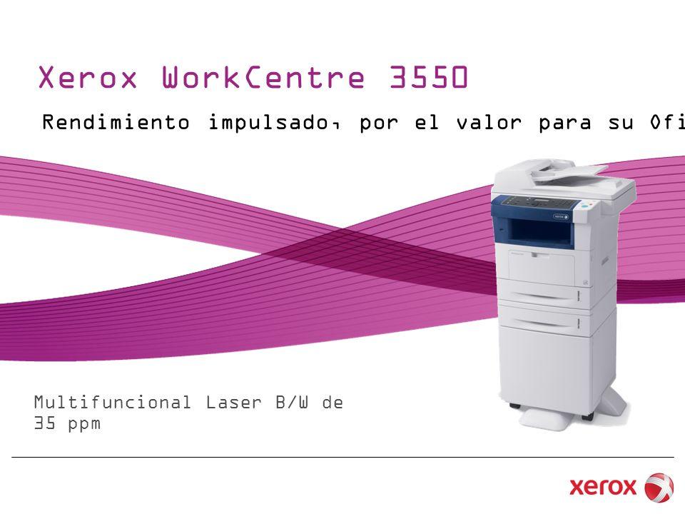 Xerox WorkCentre 3550 Multifuncional Laser B/W de 35 ppm Rendimiento impulsado, por el valor para su Oficina
