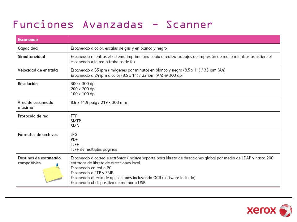 Funciones Avanzadas - Scanner