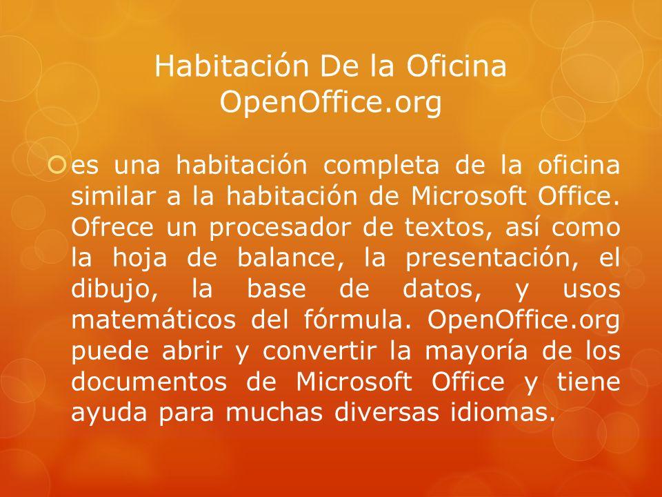 Habitación De la Oficina OpenOffice.org es una habitación completa de la oficina similar a la habitación de Microsoft Office.