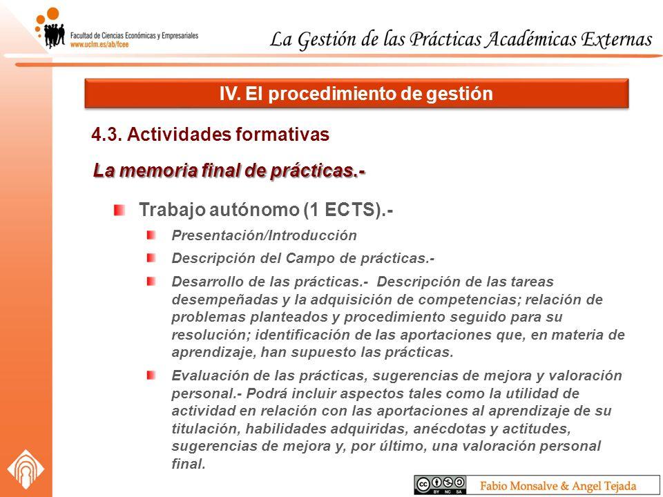 4.3. Actividades formativas IV.