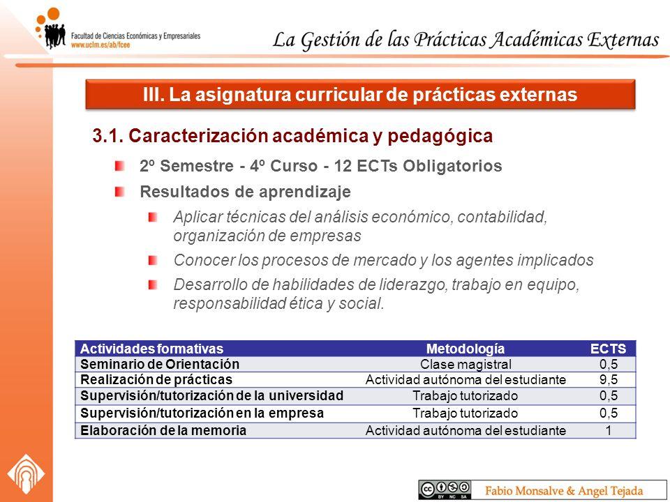 3.1. Caracterización académica y pedagógica III.