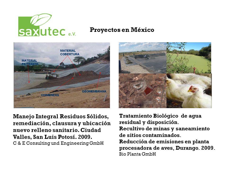 Proyectos en México Manejo Integral Residuos Sólidos, remediación, clausura y ubicación nuevo relleno sanitario.