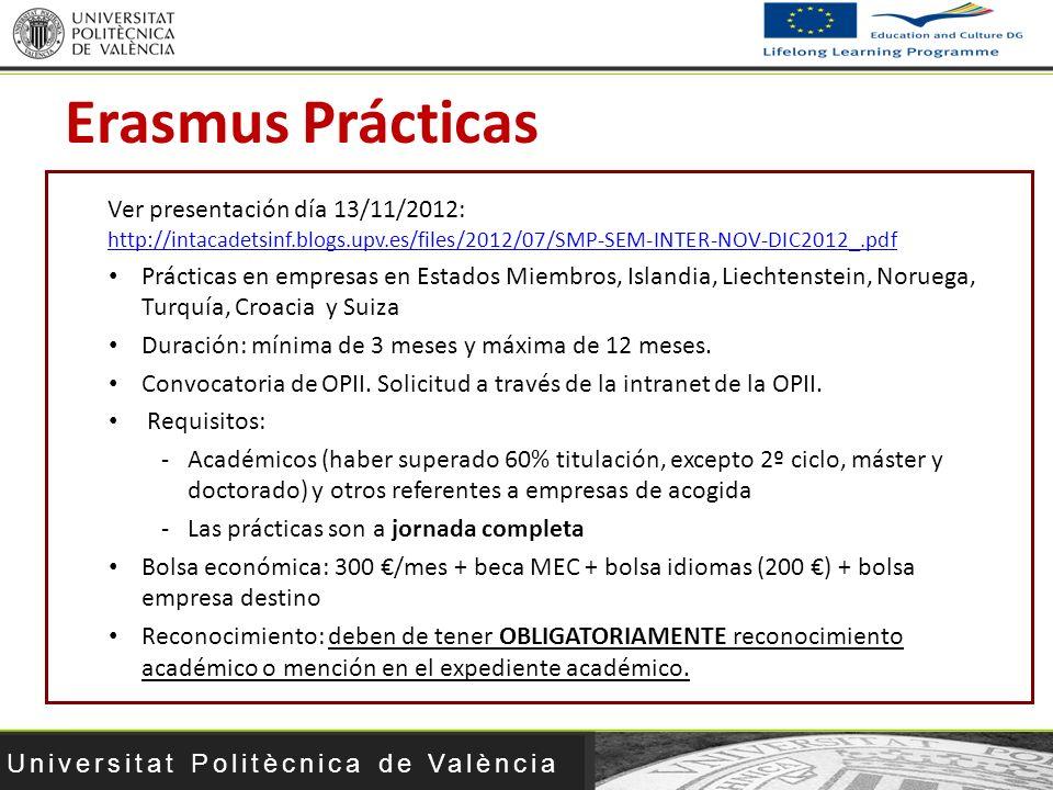 Universitat Politècnica de València Ver presentación día 13/11/2012: http://intacadetsinf.blogs.upv.es/files/2012/07/SMP-SEM-INTER-NOV-DIC2012_.pdf ht