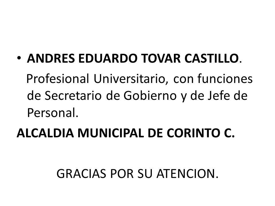 ANDRES EDUARDO TOVAR CASTILLO.