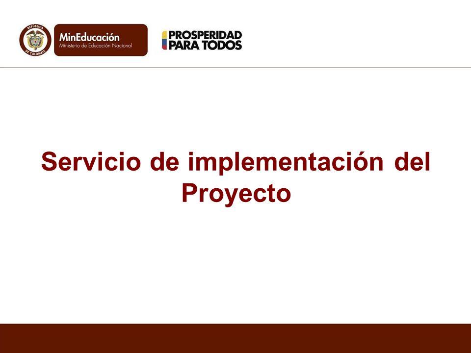 Servicio de implementación del Proyecto