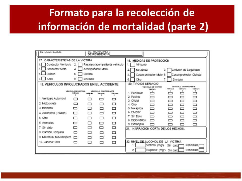 Formato para la recolección de información de mortalidad (parte 2)