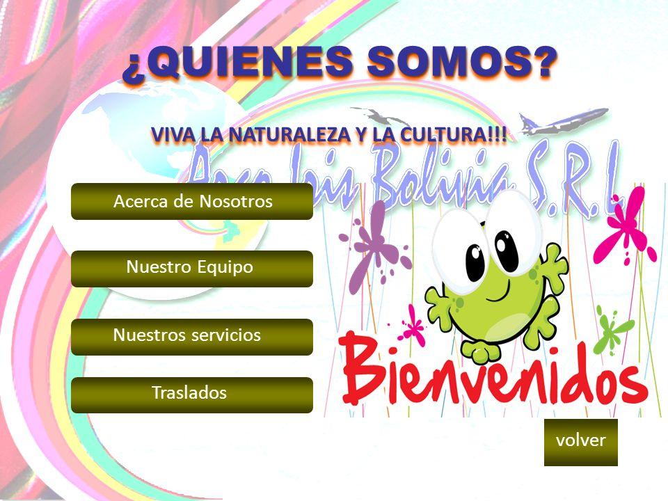 Arco Iris Bolivia SRL., es un tour operador y Mayorista de Viajes receptiva desde 1994, licenciada oficialmente por la Dirección de Turismo de la Prefectura de Santa Cruz de la Sierra e inscrita con el Registro N` 2003 en la Cámara Nacional de Operadores de Turismo de Bolivia.
