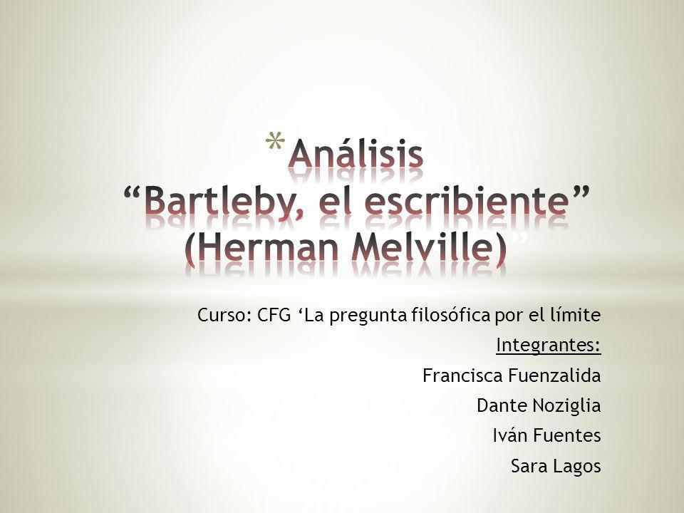 Curso: CFG La pregunta filosófica por el límite Integrantes: Francisca Fuenzalida Dante Noziglia Iván Fuentes Sara Lagos