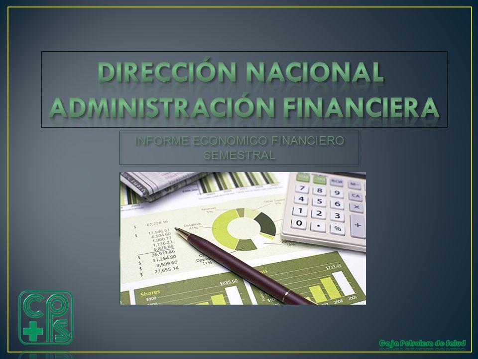 INFORME ECONOMICO FINANCIERO SEMESTRAL