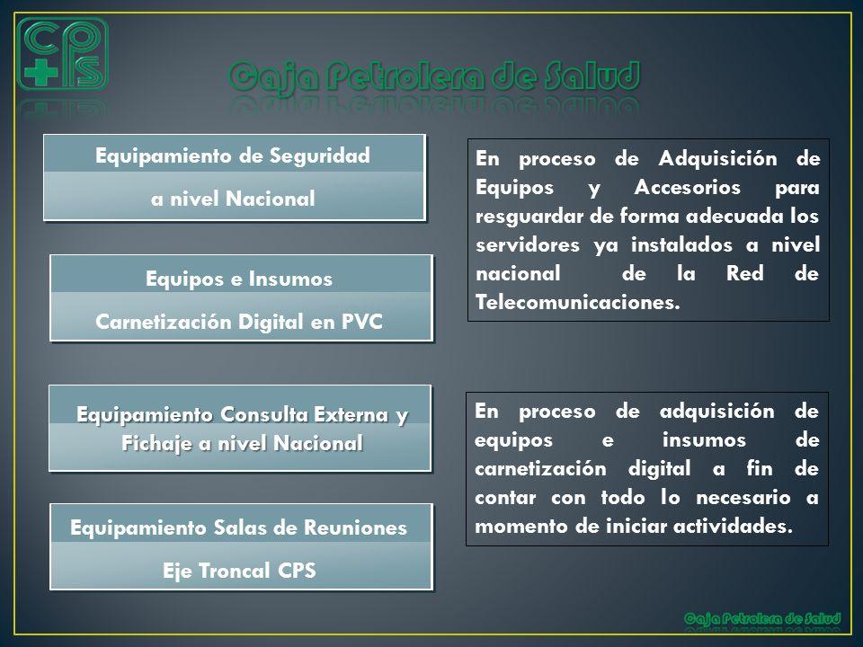 En proceso de Adquisición de Equipos y Accesorios para resguardar de forma adecuada los servidores ya instalados a nivel nacional de la Red de Telecom