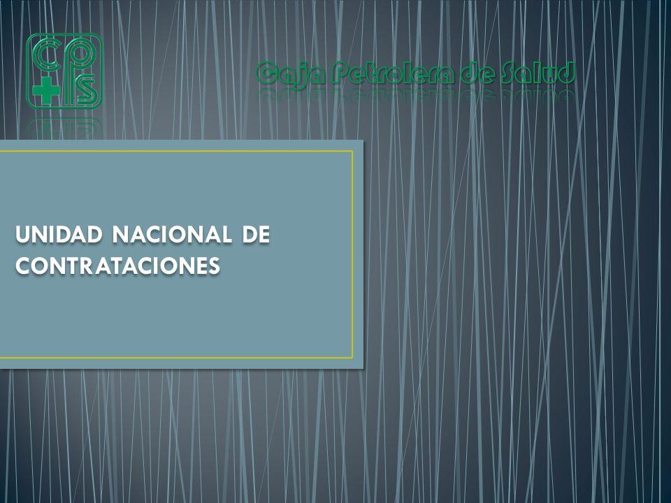 UNIDAD NACIONAL DE CONTRATACIONES