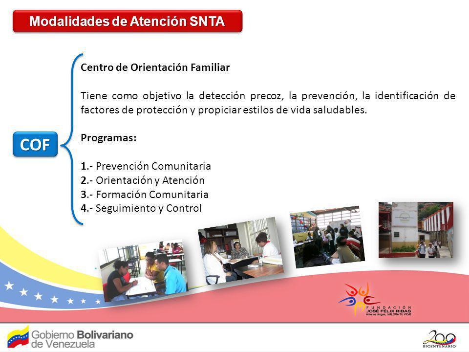 COFCOF Centro de Orientación Familiar Tiene como objetivo la detección precoz, la prevención, la identificación de factores de protección y propiciar