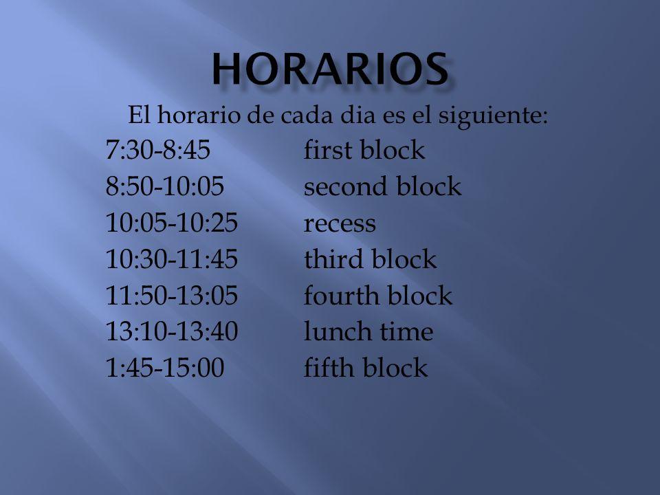 Hay horarios especiales para los dias de: a.