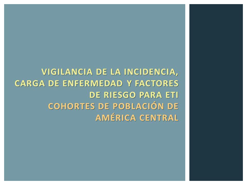 VIGILANCIA DE LA INCIDENCIA, CARGA DE ENFERMEDAD Y FACTORES DE RIESGO PARA ETI COHORTES DE POBLACIÓN DE AMÉRICA CENTRAL