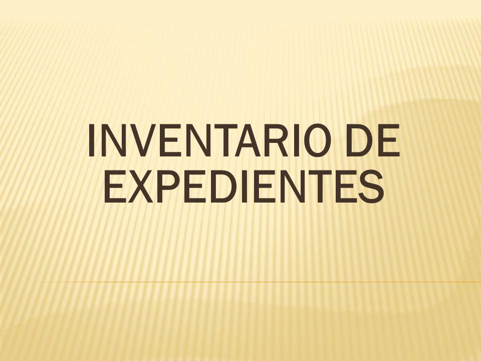 INVENTARIO DE EXPEDIENTES