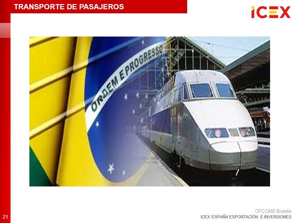ICEX ESPAÑA EXPORTACIÓN E INVERSIONES 21 OFCOME Brasilia TRANSPORTE DE PASAJEROS