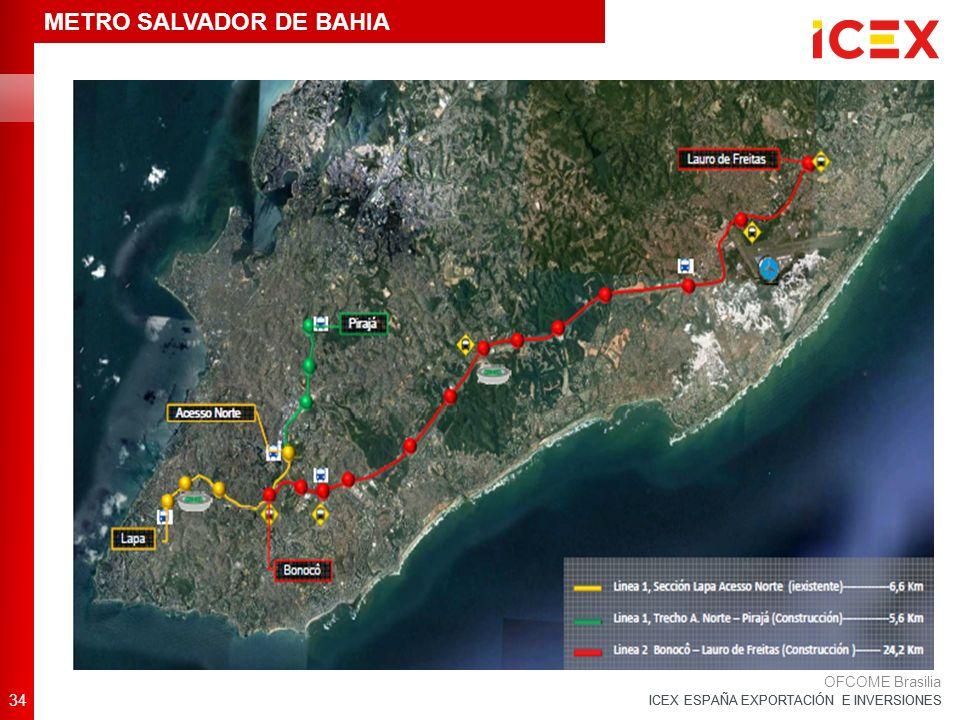 ICEX ESPAÑA EXPORTACIÓN E INVERSIONES 34 OFCOME Brasilia METRO SALVADOR DE BAHIA