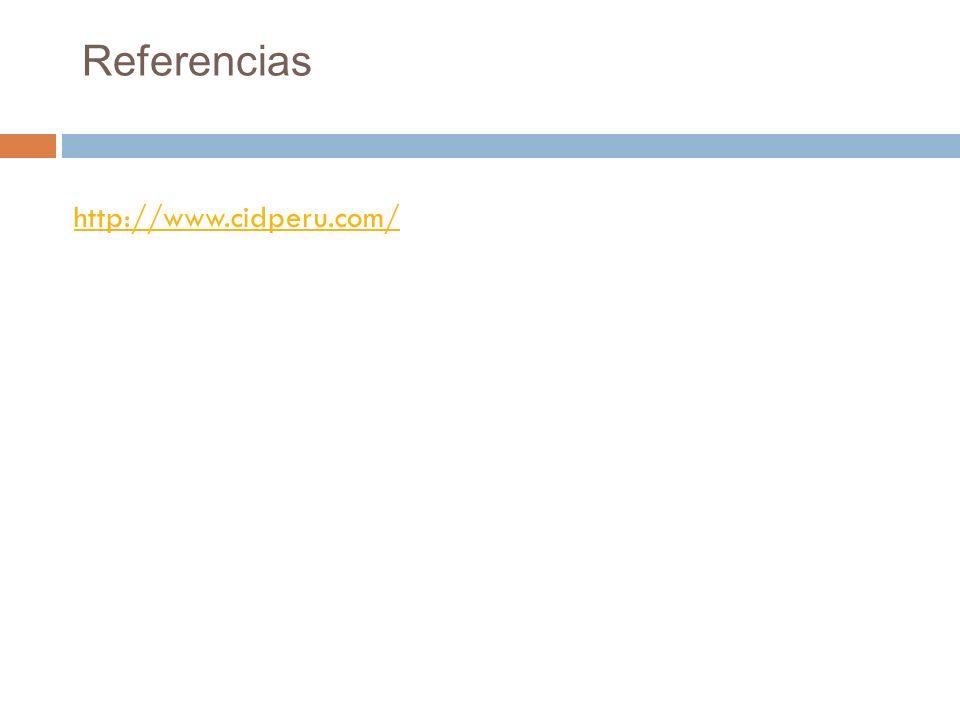 Referencias http://www.cidperu.com/