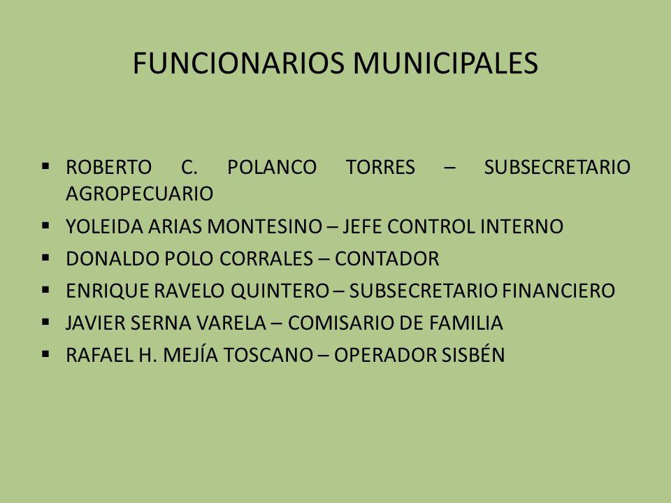 FUNCIONARIOS MUNICIPALES ROBERTO C.