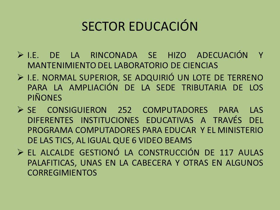 SECTOR EDUCACIÓN I.E.