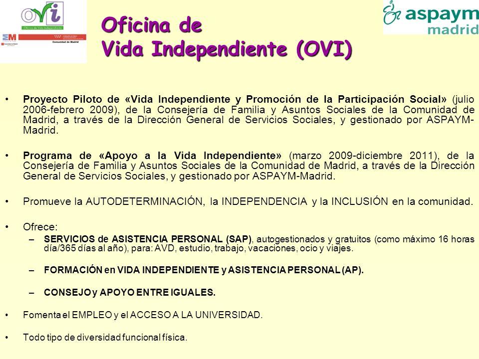 Oficina de Vida Independiente (OVI) Proyecto Piloto de «Vida Independiente y Promoción de la Participación Social» (julio 2006-febrero 2009), de la Co