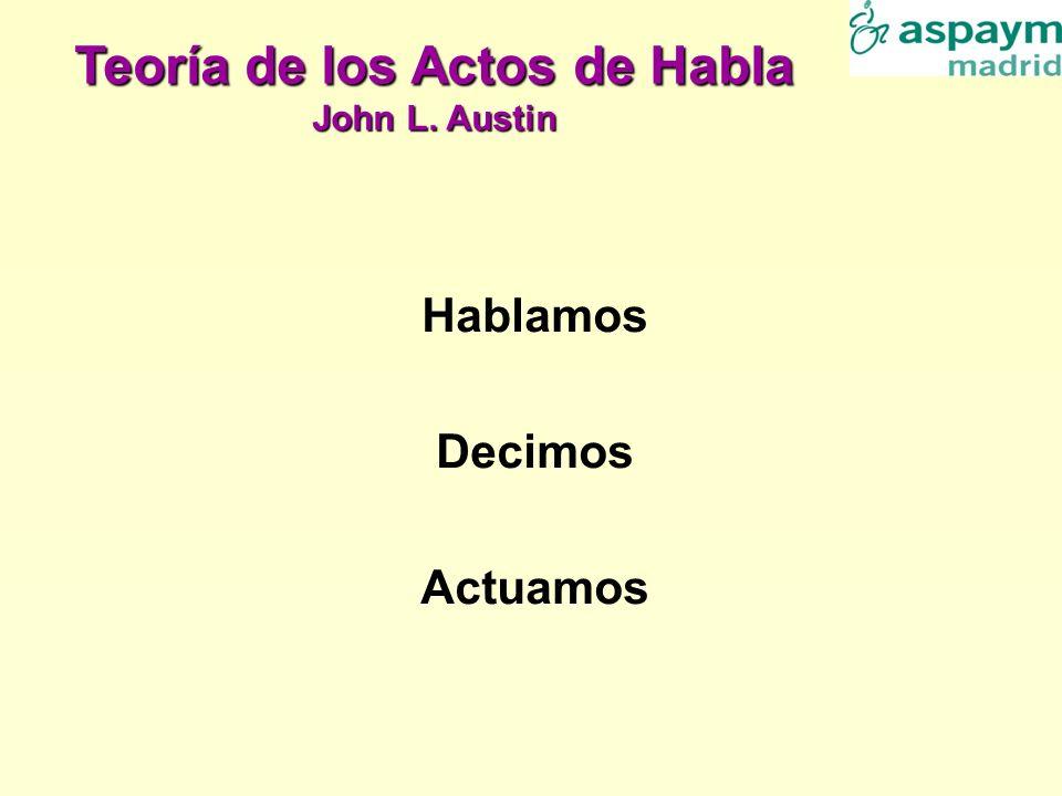 Hablamos Decimos Actuamos Teoría de los Actos de Habla John L. Austin
