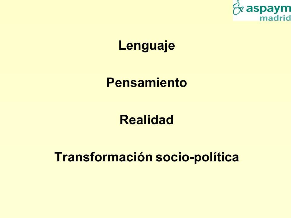 Lenguaje Pensamiento Realidad Transformación socio-política