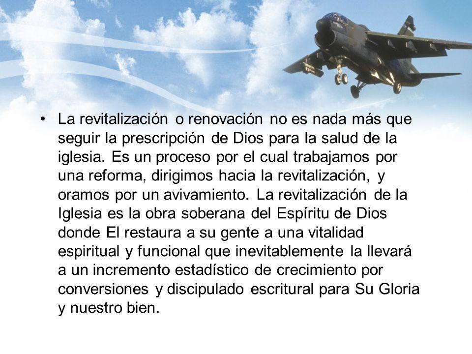 La revitalización o renovación no es nada más que seguir la prescripción de Dios para la salud de la iglesia.