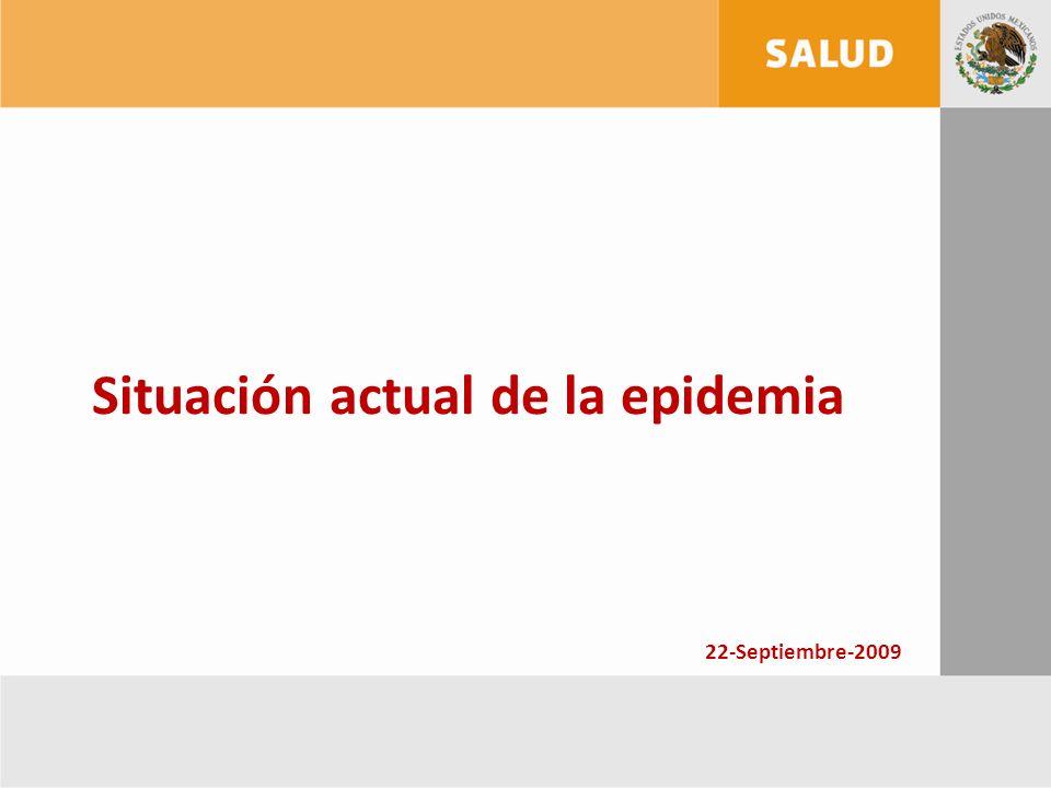 Situación actual de la epidemia 22-Septiembre-2009