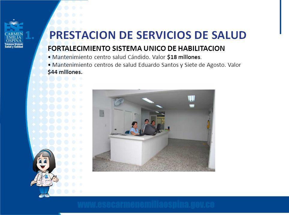 FORTALECIMIENTO SISTEMA UNICO DE HABILITACION Mantenimiento centro salud Cándido.