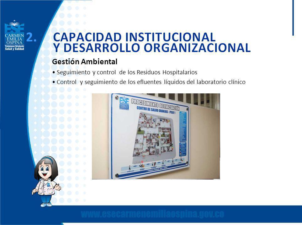 Gestión Ambiental Seguimiento y control de los Residuos Hospitalarios Control y seguimiento de los efluentes líquidos del laboratorio clínico