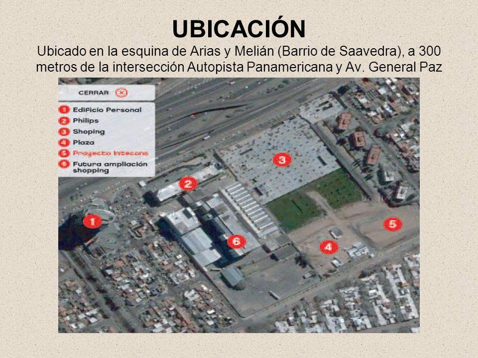 UBICACIÓN Ubicado en la esquina de Arias y Melián (Barrio de Saavedra), a 300 metros de la intersección Autopista Panamericana y Av.