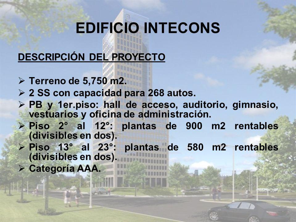 EDIFICIO INTECONS DESCRIPCIÓN DEL PROYECTO Terreno de 5,750 m2.