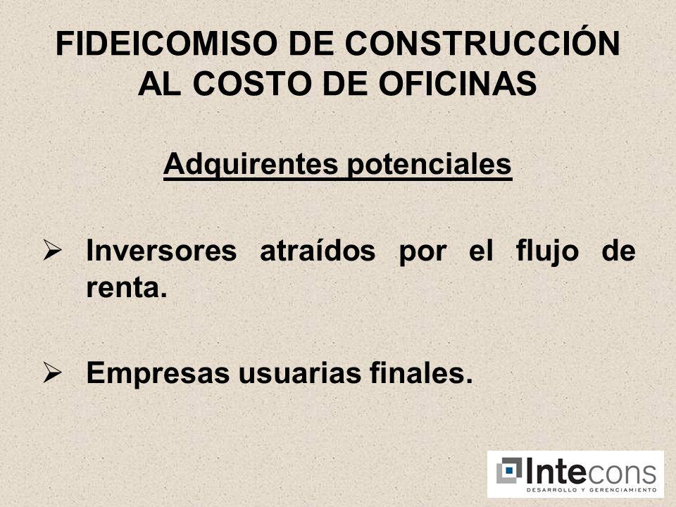 EDIFICIO INTECONS ESTRUCTURACION DEL NEGOCIO Fideicomiso al costo.