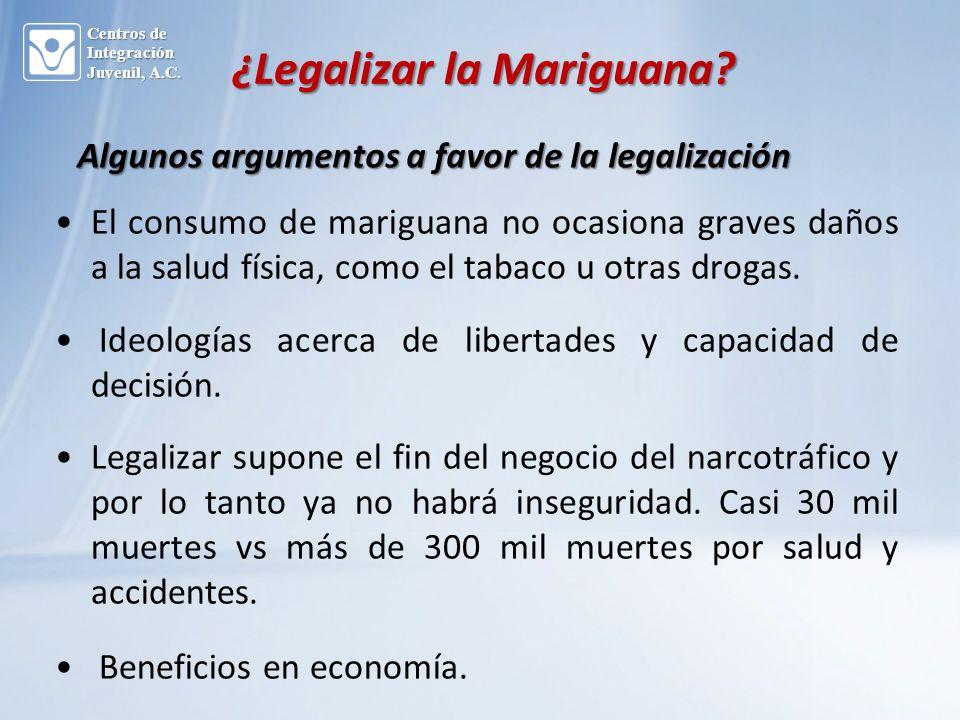 ¿Legalizar la Mariguana.