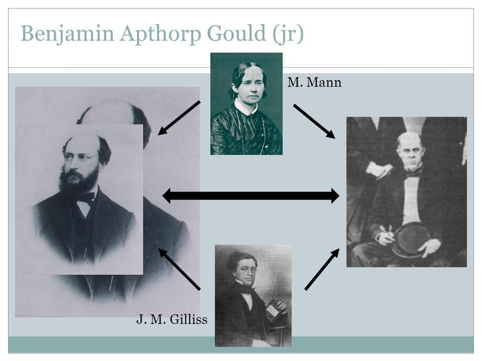 Benjamin Apthorp Gould (jr) J. M. Gilliss M. Mann