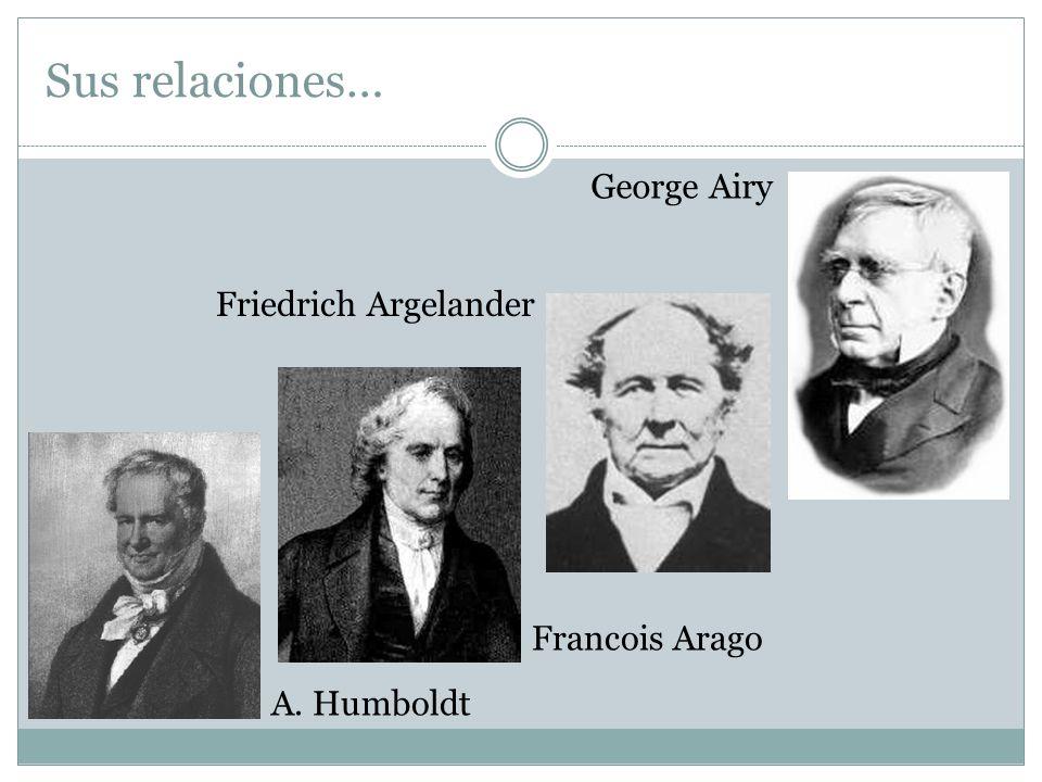 George Airy Friedrich Argelander Francois Arago A. Humboldt Sus relaciones…