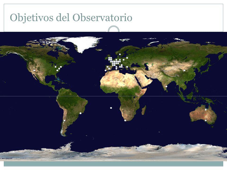 Objetivos del Observatorio La formación de un catálogo de posiciones estelares en la porción de los cielos del sur no exploradas. La realización y med