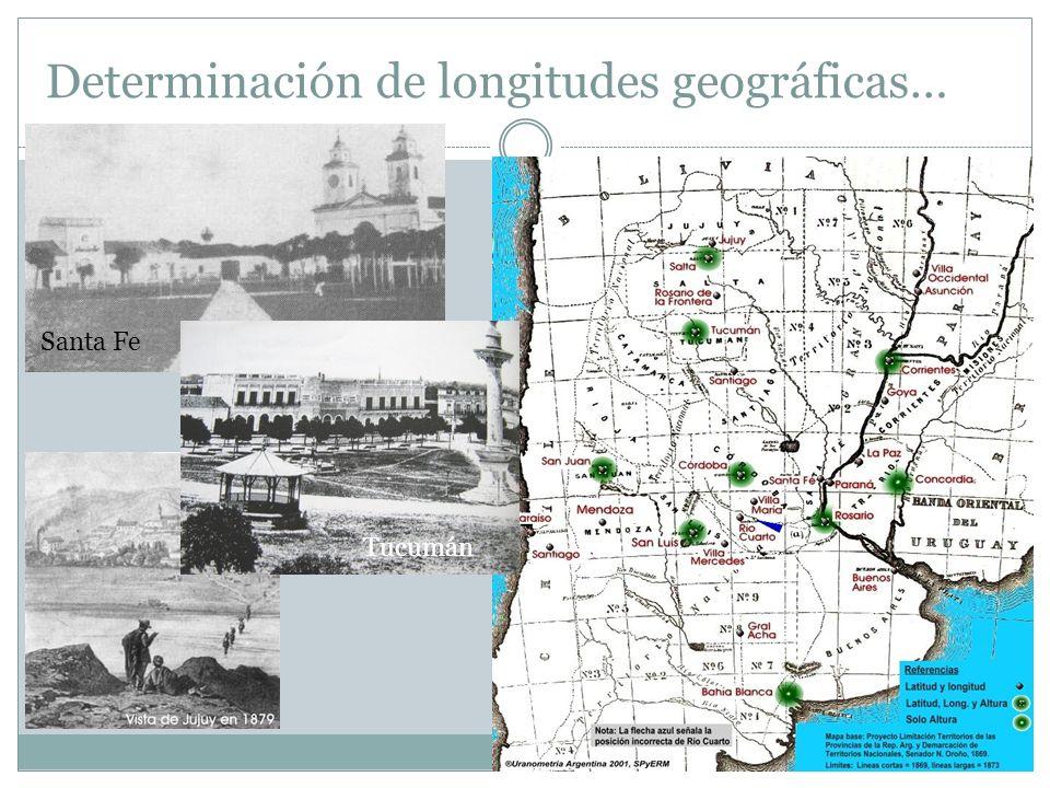 Determinación de longitudes geográficas… Santa Fe Tucumán