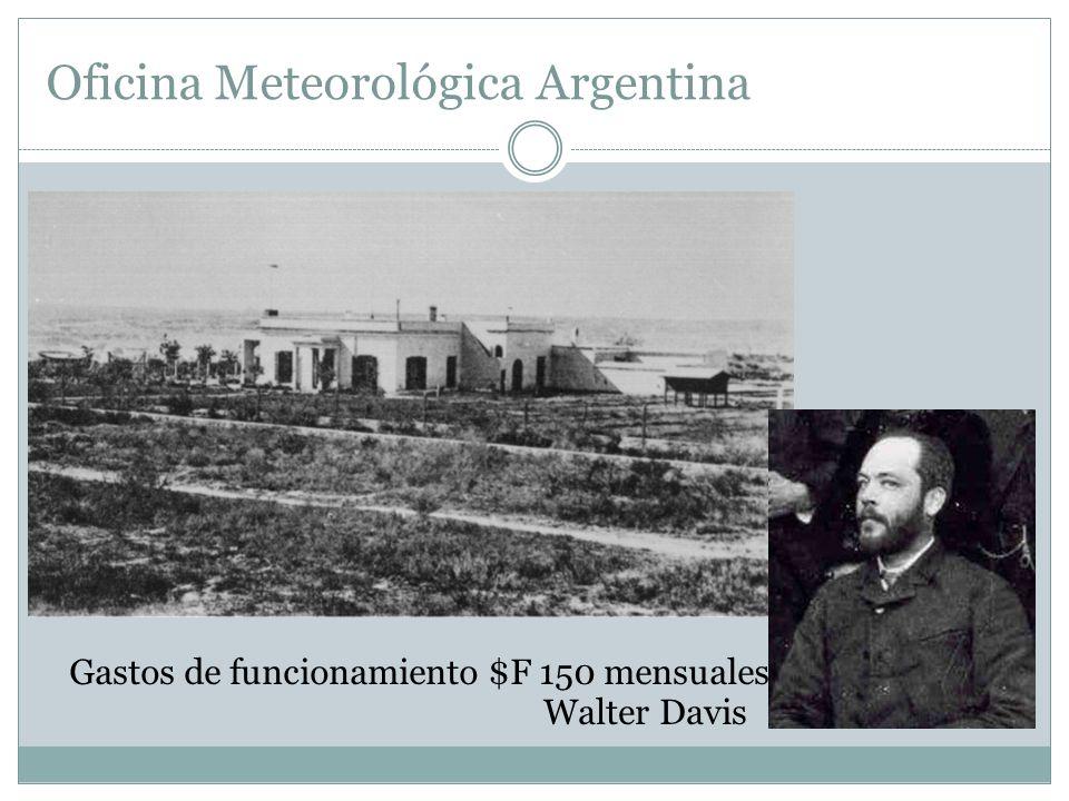 Oficina Meteorológica Argentina Ley del 4 de octubre de 1872 creación de la Oficina Meteorológica Nacional Sede en el edificio del Observatorio Direct