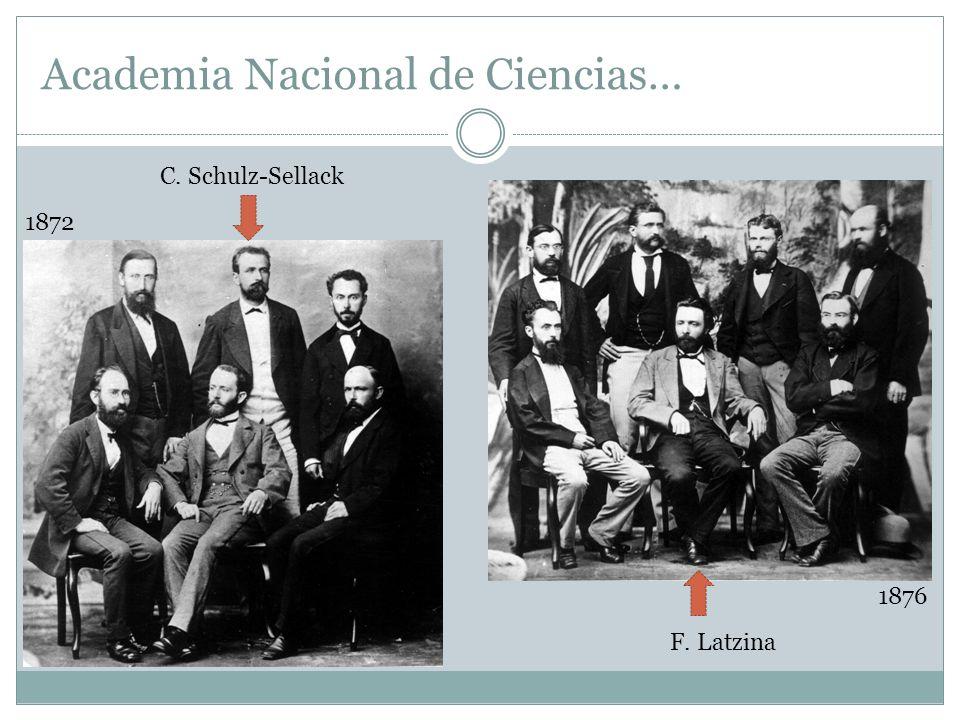 Academia Nacional de Ciencias… 1872 C. Schulz-Sellack 1876 F. Latzina
