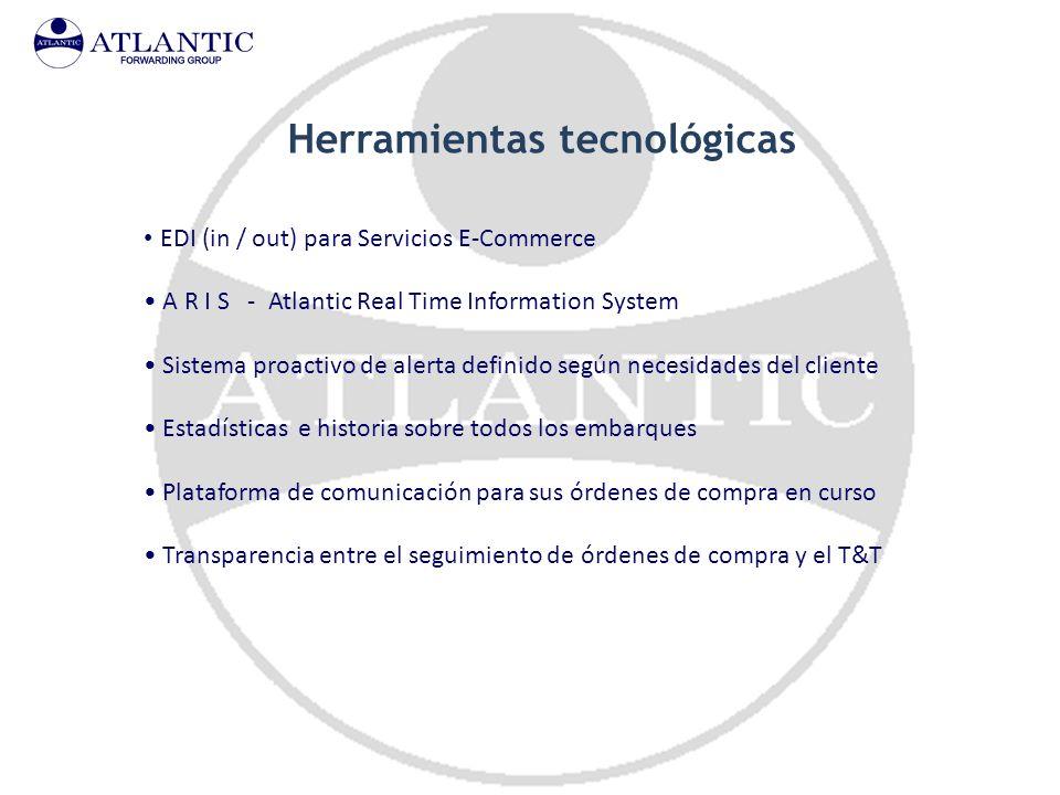 Herramientas tecnológicas EDI (in / out) para Servicios E-Commerce A R I S - Atlantic Real Time Information System Sistema proactivo de alerta definid
