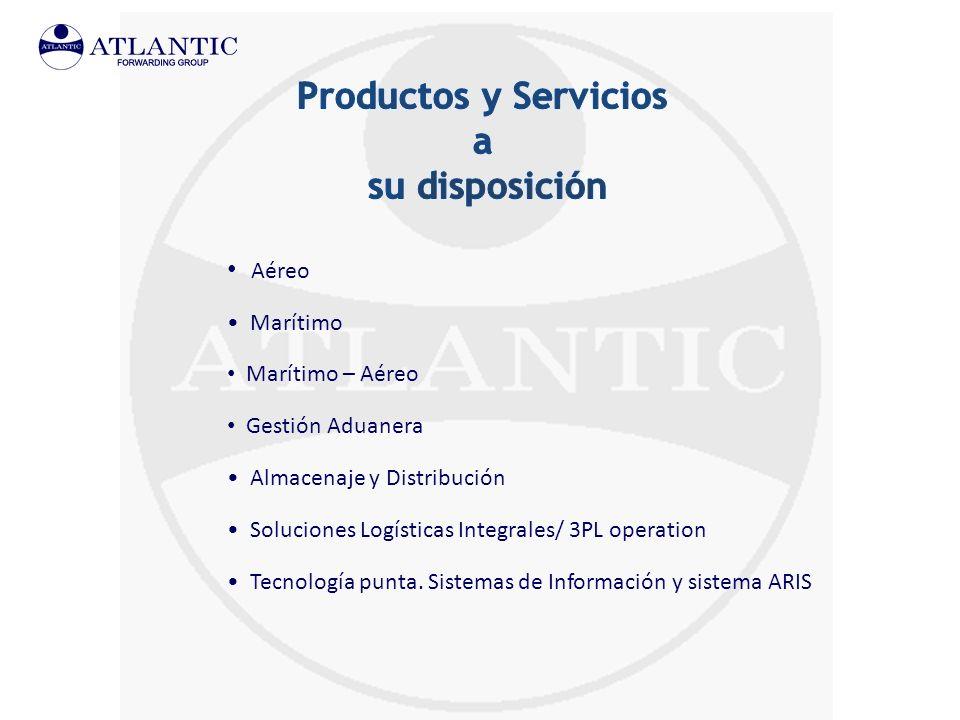 Aéreo Marítimo Marítimo – Aéreo Gestión Aduanera Almacenaje y Distribución Soluciones Logísticas Integrales/ 3PL operation Tecnología punta. Sistemas