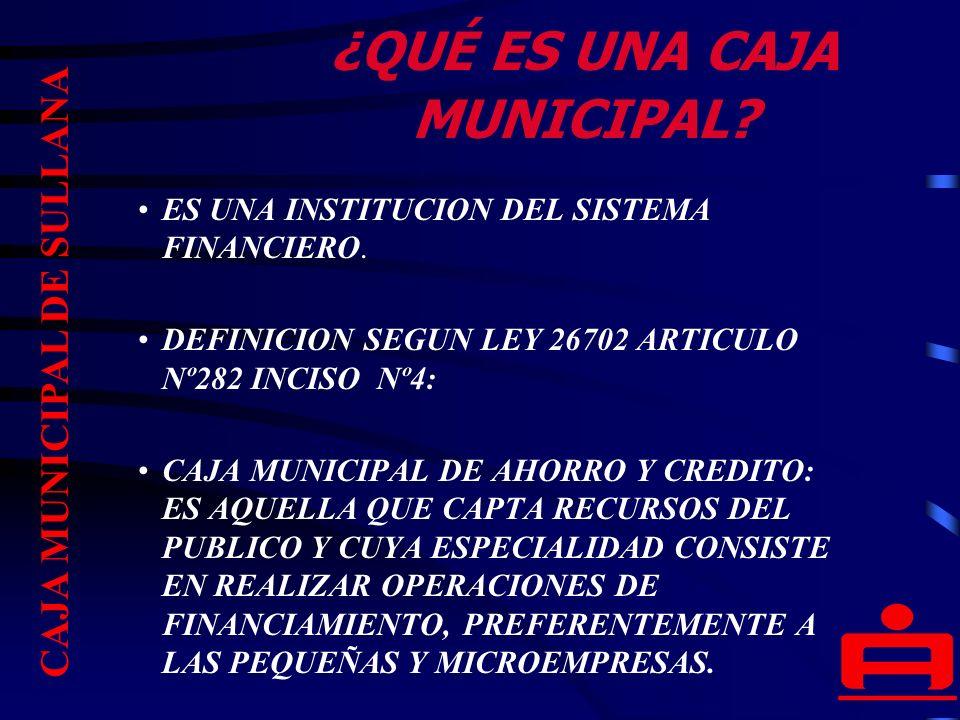 PRINCIPIOS DE LAS CAJAS MUNICIPALES AUTONOMIA POLITICA ECONOMICA Y FINANCIERA DE LA INSTITUCION.