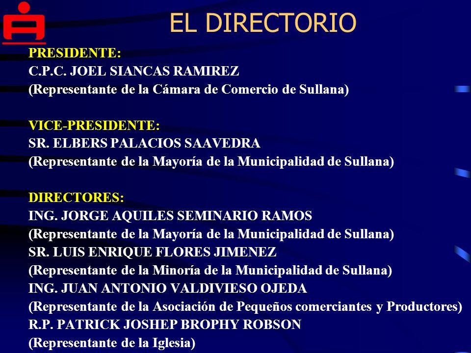 EL DIRECTORIO PRESIDENTE: C.P.C.