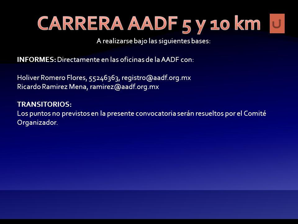 A realizarse bajo las siguientes bases: REGLAMENTO: Será el vigente de la Federación Mexica de Atletismo e I.A.A.F.